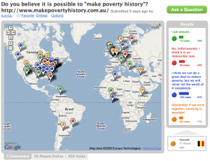 Do you believe we can make poverty history?
